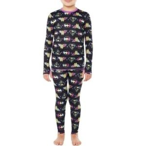 DC Comics Superheroes Long Underwear Pajamas M 7/8